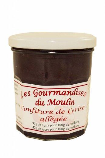 Moulin Jouve Kersen jam met 95 gr. kersen per 100 gr. Pot à 350 gr. Moulin Jouve