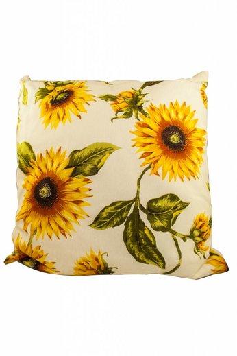 L'esprit provençal Kussen met zonnebloemen met binnenkussen 42 x 42 cm
