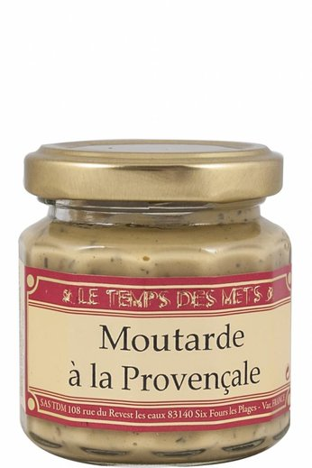 Le Temps des Mets Franse mosterd de Dijon met Provençaalse kruiden 100 gram