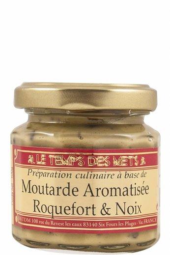 Le Temps des Mets Franse mosterd met Roquefort en noten 100 gram