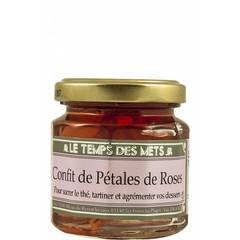 Le Temps des Mets Confijt van rozenblaadjes, rozenjam 125 gr.