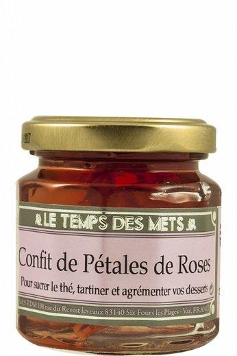 Le Temps des Mets Confijt van rozenblaadjes, rozenjam 125 gr, Le Temps des Mets