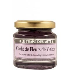 Le Temps des Mets Confijt van vioolblaadjes, viooltjesjam 125 gr.