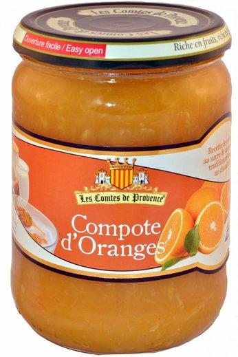 Les Comtes de Provence Sinaasappel compote 560 gr. van Les Comtes de Provence