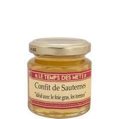 Le Temps des Mets Confijt van Sauternes, witte druiven jam 125 gr.
