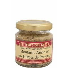 Le Temps des Mets Traditionele Franse mosterd met Provençaalse kruiden 100 gram