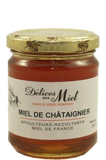 Délices au Miel Franse kastanje honing 250 gr van Délices au Miel