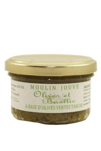 Moulin Jouve Olijven met basilicum pasta 90 gr