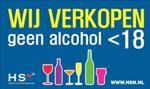 Geen alcohol onder de 18