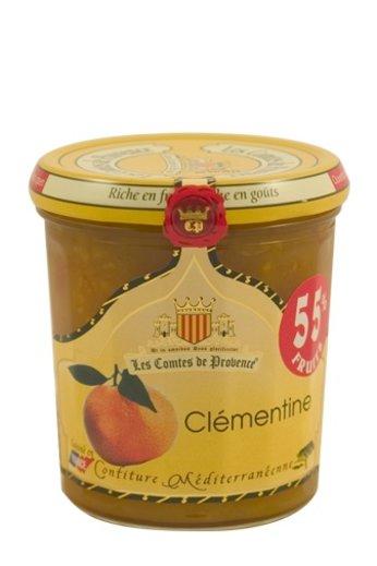 Les Comtes de Provence Mediterrane jam van mandarijnen uit Frankrijk 340 gr. Les Comtes de Provence