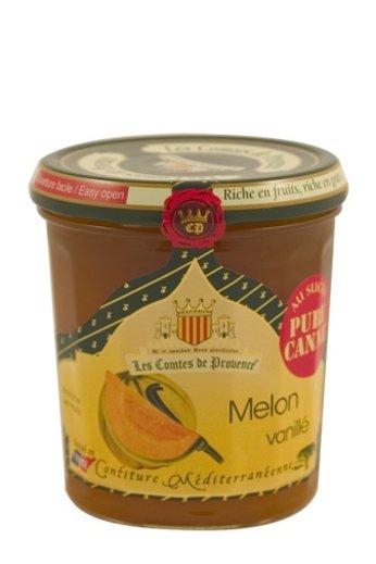 Les Comtes de Provence Mediterrane jam van meloen en vanille 340 gr, Les Comtes de Provence