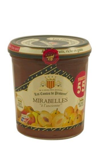 Les Comtes de Provence Traditionele gele Pruimen jam (Mirabelles) 370 gr. van Les Comtes de Provence