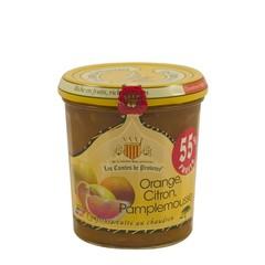 Les Comtes de Provence Mediterrane jam van sinaasappel, citroen en grapefruit 340 gr.