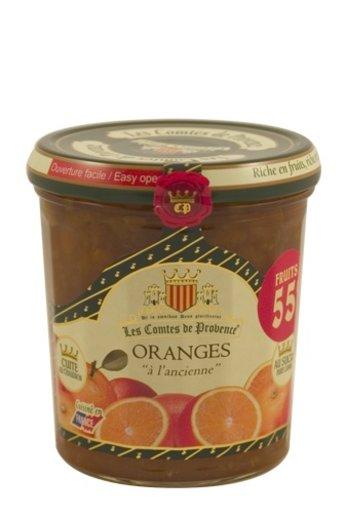 Les Comtes de Provence Traditionele Sinaasappel jam 370 gr. van Les Comtes de Provence