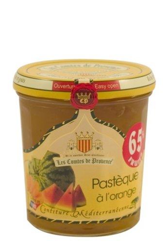 Les Comtes de Provence Meditterane jam van watermeloen met sinaasappel 340 gr, Les Comtes de Provence