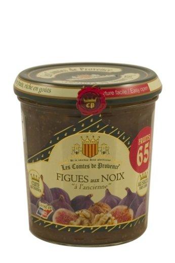Les Comtes de Provence Franse traditionele vijgen met noten jam 340 gr. van Les Comtes de Provence