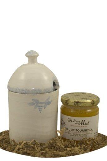 L'esprit provençal Cadeauset: Frans aardewerk Honingpot met een pot honing van Délices au Miel