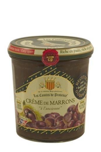 Les Comtes de Provence Kastanje crème met gebroken kastanjes 370 gr. (Crème de Marrons) van Les Comtes de Provence