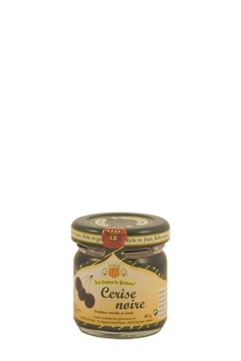 Les Comtes de Provence Traditionele zwarte Kersen jam 40 gr. van Les Comtes de Provence
