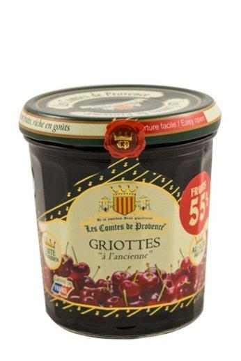 Les Comtes de Provence Franse jam van Griotte kersen 370 gr.( Confiture Griottes) Les Comtes de Provence