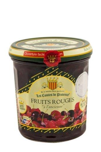 Les Comtes de Provence Franse jam van Rode vruchten 370 gr.( Confiture Fruits rouges) Les Comtes de Provence