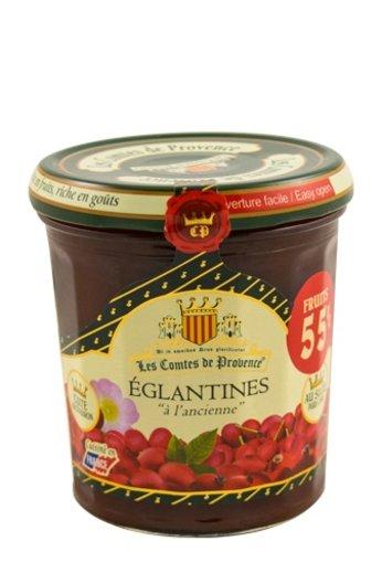 Les Comtes de Provence Franse jam van Rozebottel 370 gr.( Confiture Eglantines) Les Comtes de Provence