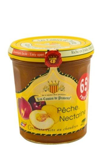 Les Comtes de Provence Franse mediterrane jam van Perzik en Nectarine 340 gr.( Confiture Pêche, Nectarine) Les Comtes de Provence