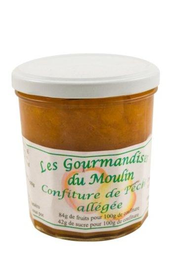 Moulin Jouve Franse Perzik jam met 84% fruit. Pot: 350 gr. van Moulin Jouve