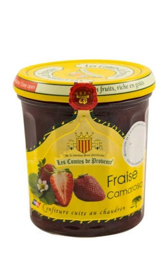 Les Comtes de Provence Camarosa aardbeien jam 340 gr