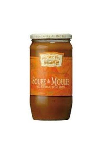 Au Bec Fin Mosselsoep 800 ml (Soupe de Moules au Corail d'Oursins) van Au-Bec-Fin