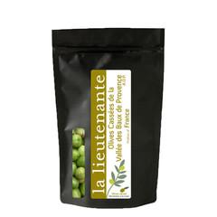 La Lieutenante Gebroken groene olijven uit de Vallei Baux de Provence A.O.P 120 gr