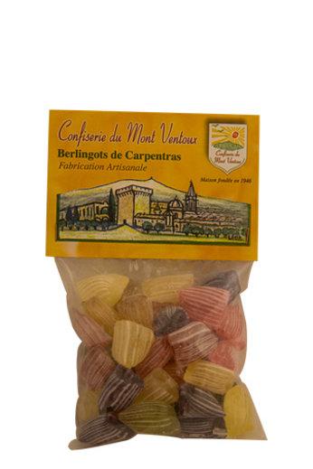 Confiserie du Mont Ventoux Berlingots verschillende smaken in een zakje 150 gr van Confiserie du Mont Ventoux