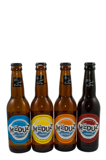 Brasserie Artisanal Meduz Frans bier Meduz set 4 smaken Blanche-Blonde-Doree-Ambree