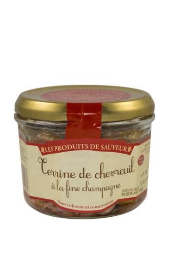 Le Temps des Mets Franse terrine van ree met champagne 180 gr van Le Temps des Mets