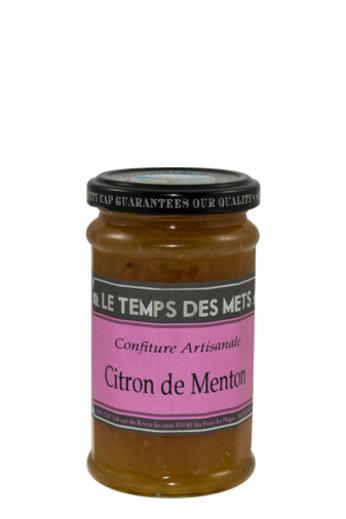Le Temps des Mets Confiture citroen uit Menton 225 gr. van Le Temps des Mets