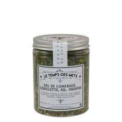 Le Temps des Mets Camarque zout, bieslook, knoflook en ui 120 gr