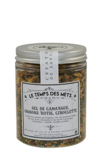Le Temps des Mets Camarque zout met geroosterde ui en bieslook 120 gr van Le Temps des Mets