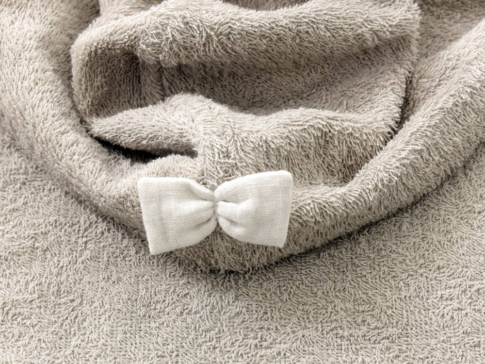 Hooded Baby Towel - Sand