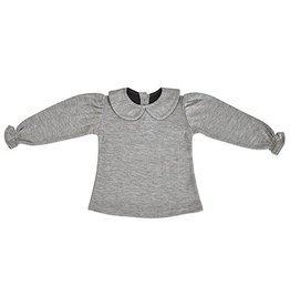 Collar Tee - Grey Melange