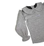 Collar Tee - Grey Melange