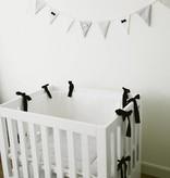 Bed-playpenbumper - Black & White