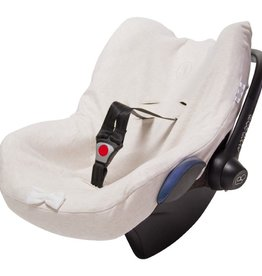 Car seat cover - Sand + Snow White