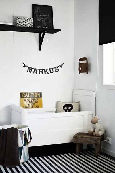 Kids Room: Edgy Black