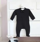 Bow Tie babysuit - Black