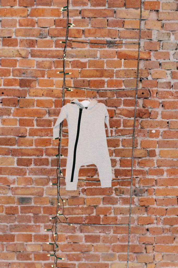 Hoody Zip Jumpsuit - Stone