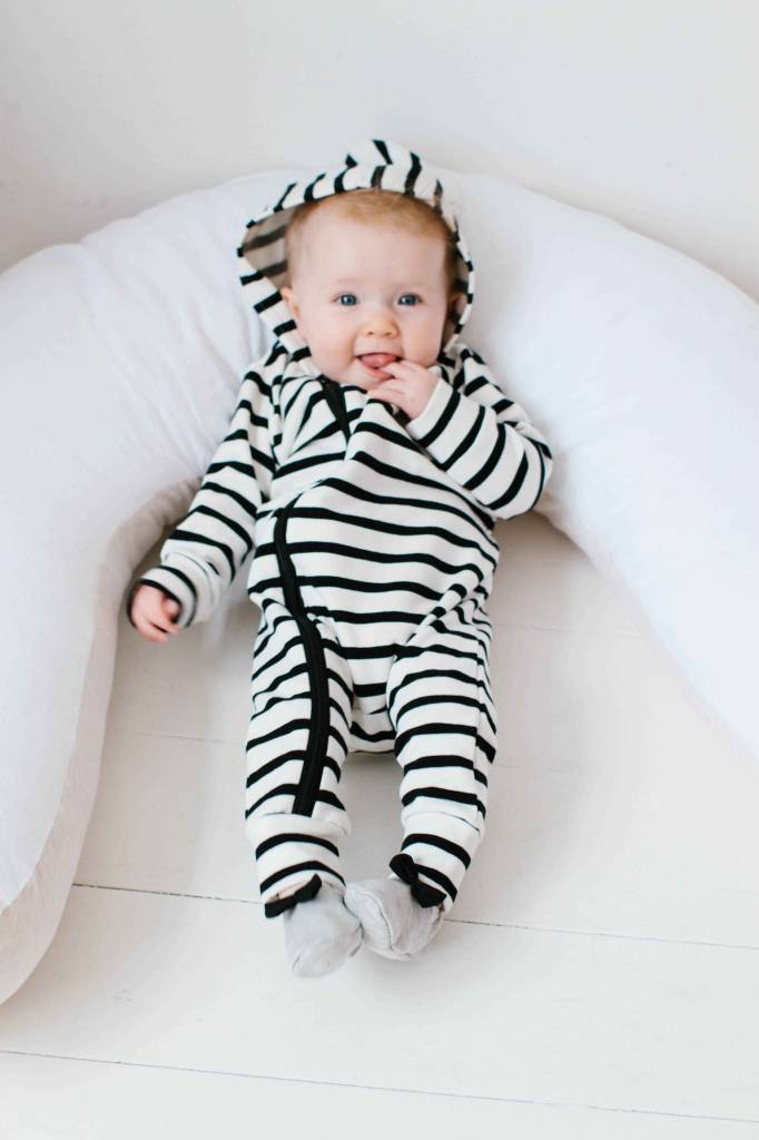 Hoody Zip Jumpsuit - Breton