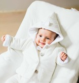 Bow Tie Hooded Jacket - Soft White