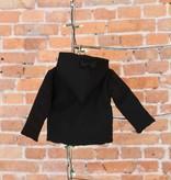 Bow Tie Hooded Jacket - Black