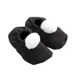 Pom Pom Booties - Black