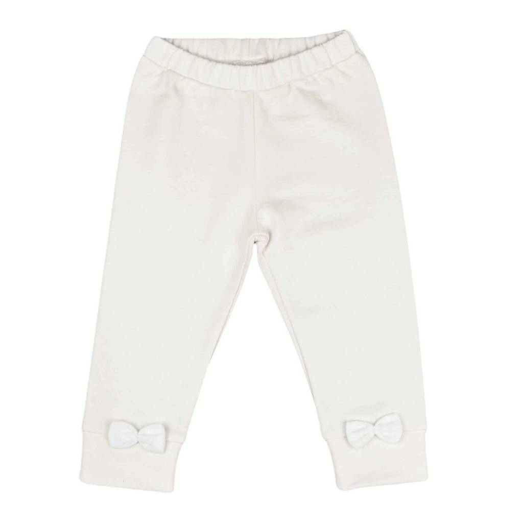 Bow Tie Legging - Soft White
